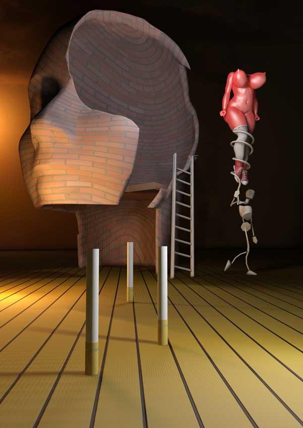 Great 1 ballon poster door Phill Luland