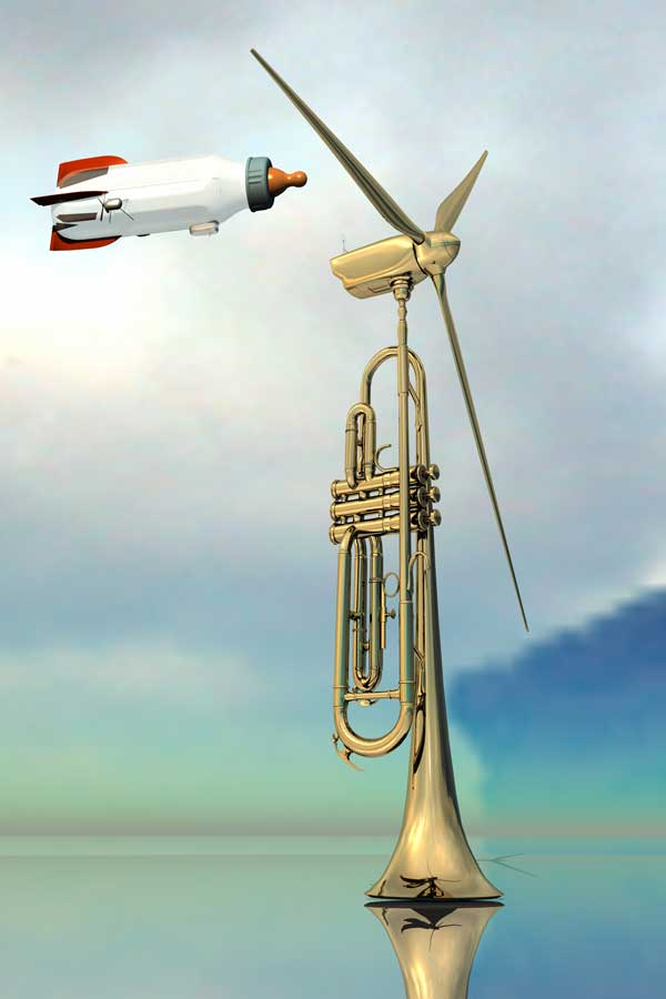 wind instrument by Phill Luland