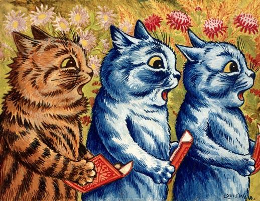 cats singing kaart