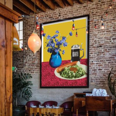 restaurant wall art