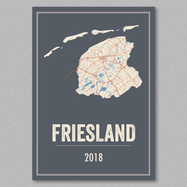 Friesland, Nederland poster