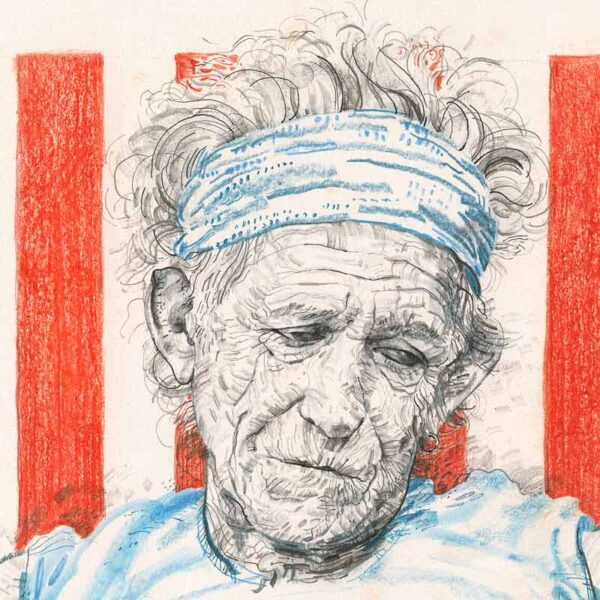 Keith Richards poster by Derek Bacon