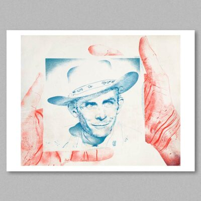 Hank Williams poster by Derek Bacon