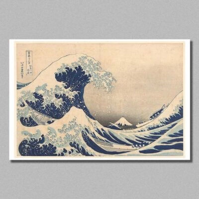 The Great wave poster by Hokusai