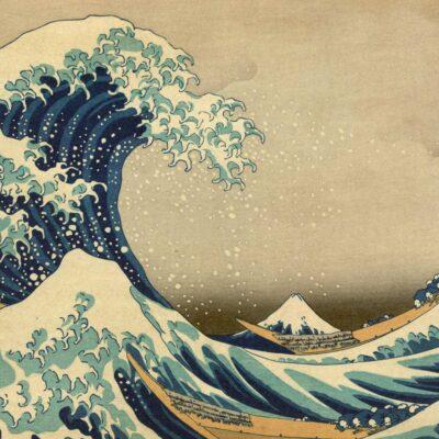 De grote golf van Kanagawa poster