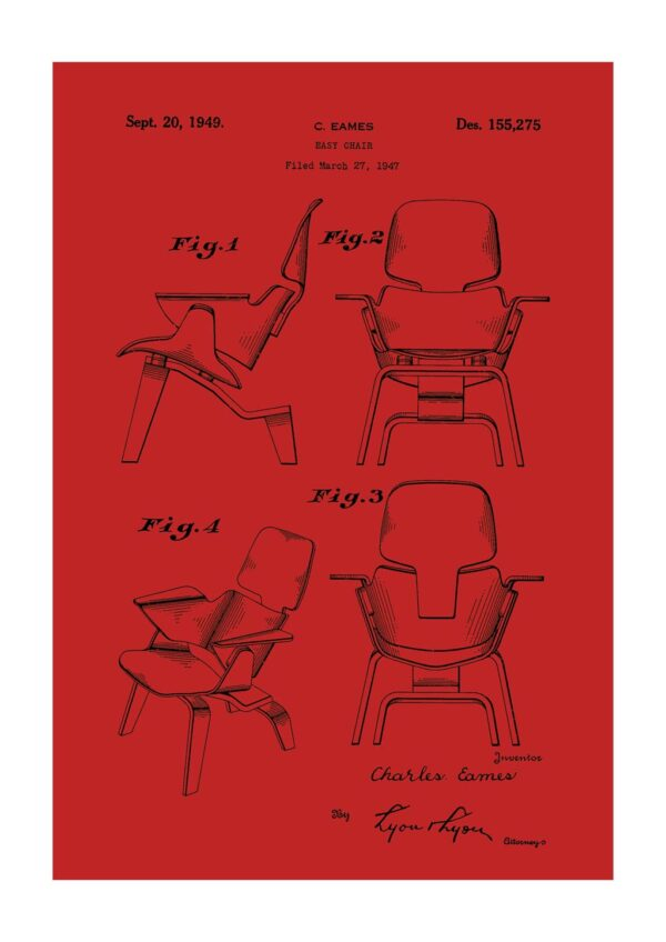 eames easy chair poster