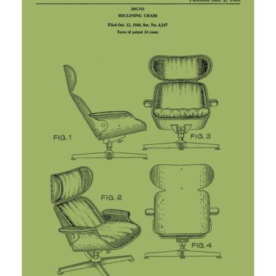 eames poster green