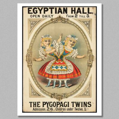 Circus posters - The pygopagi twins