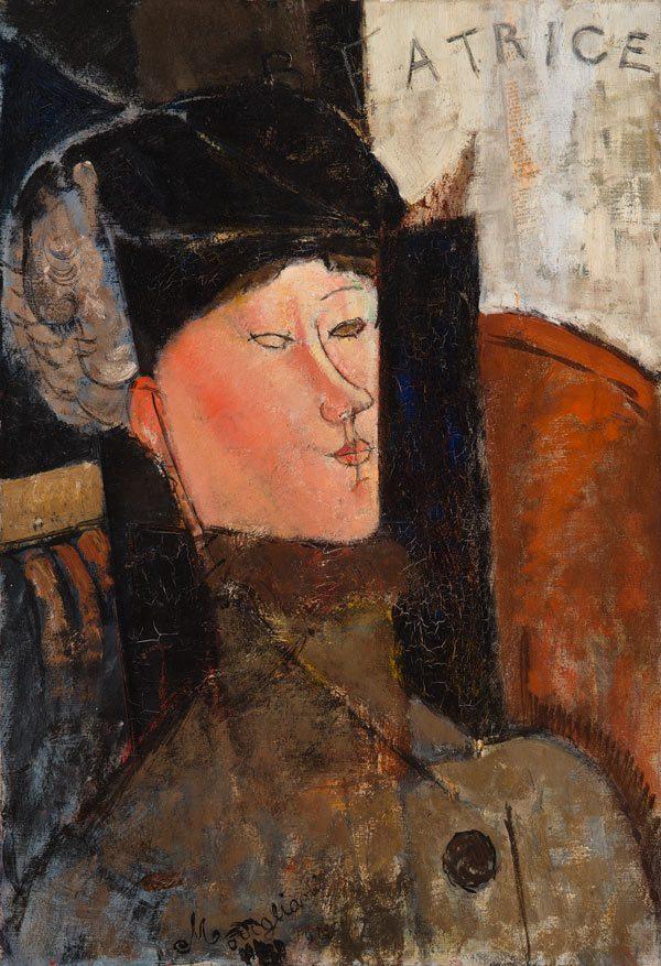 Portrait of Beatrice door Amedeo Modigliani