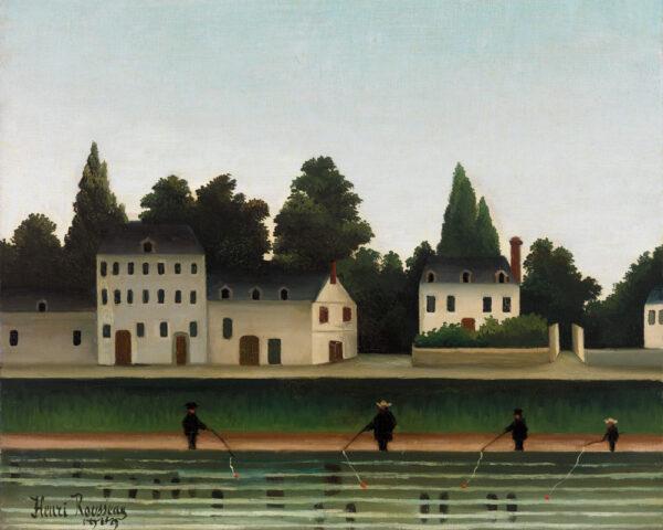 Landscape & Four Fishermen - Henri Rousseau