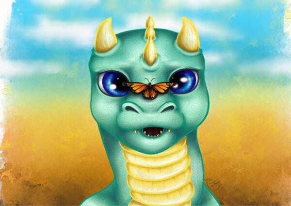 Little Dragon poster - Mirte Stamkot