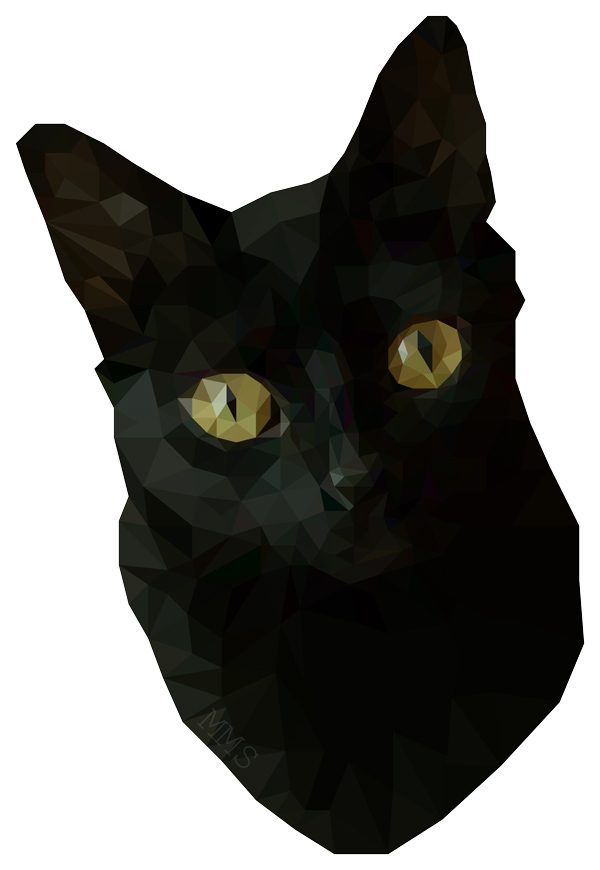 Low Poly Black Cat by Mirte Stamkot