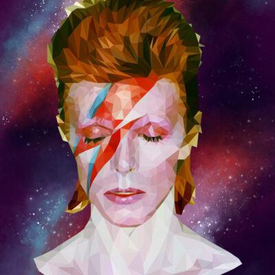 David Bowie poster by Mirte Stamkot