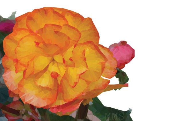 Low Poly Flower - Mirte Stamkot