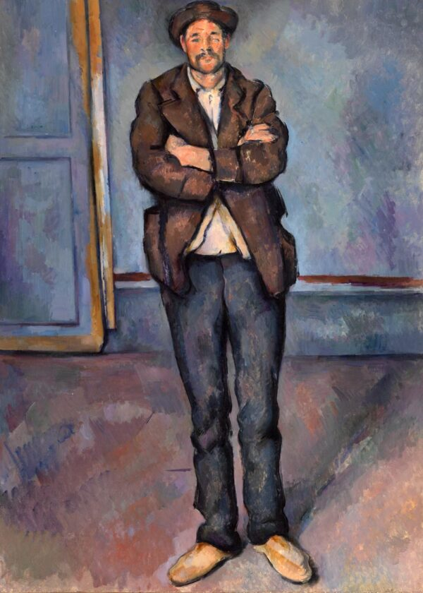Paul Cézanne peasant standing poster