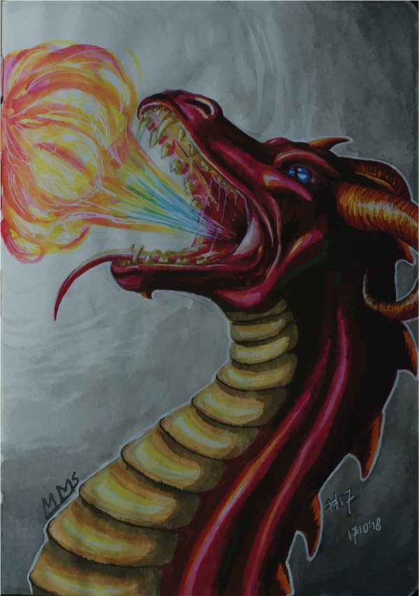 Dragon poster - Mirte Stamkot