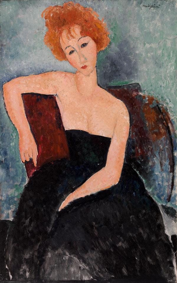 Redheaded girl Amedeo Modigliani poster