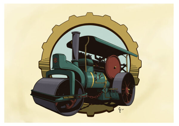 steamroller door christiaan boerlage