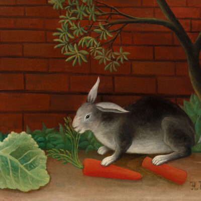 the rabbits meal door Henri Rousseau