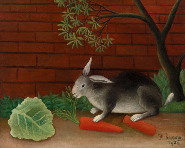 the rabbits meal door Henri Rousseau