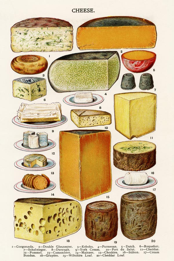Mrs Beeton's Cheese posters