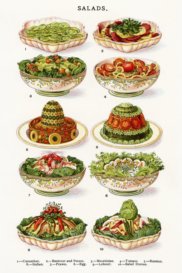 mrs beetons salads poster