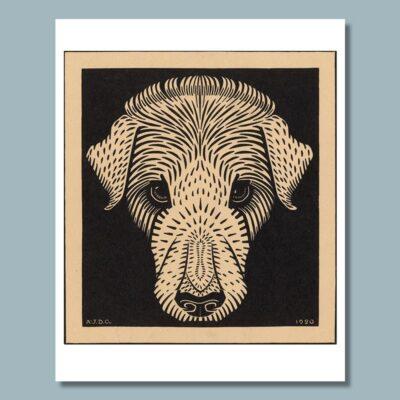 Hondenkop door Julie de Graag