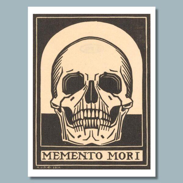memento mori skull poster door julie de graag