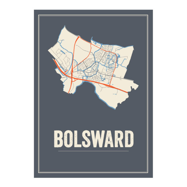 Bolsward poster kaart