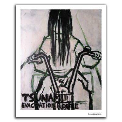 Bianca de Gier - Tsunami evacuation route poster