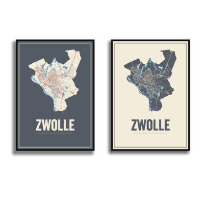 Zwolle poster kaarten