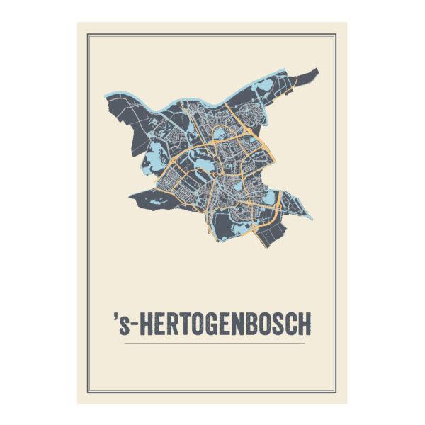 Den Bosch poster kaart