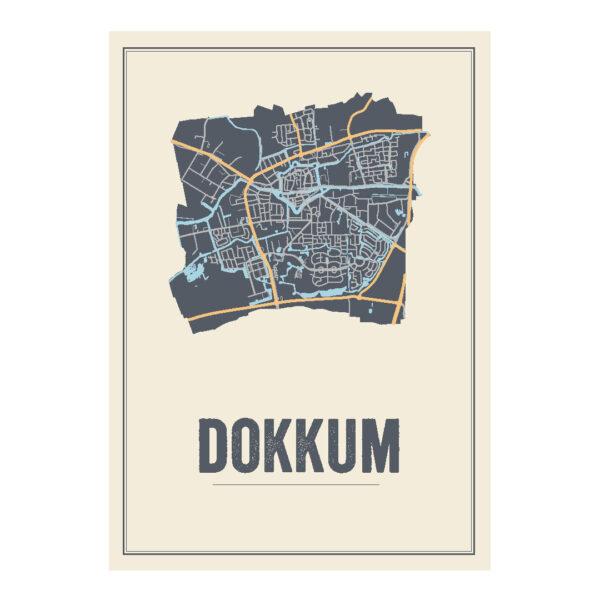Dokkum poster kaart