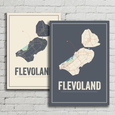 Flevoland kaart