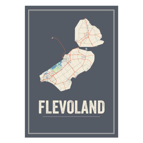 kaart Flevoland