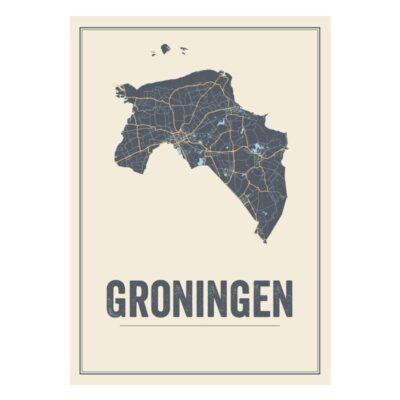 Groningen poster kaart