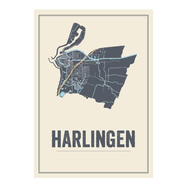 Harlingen poster kaart