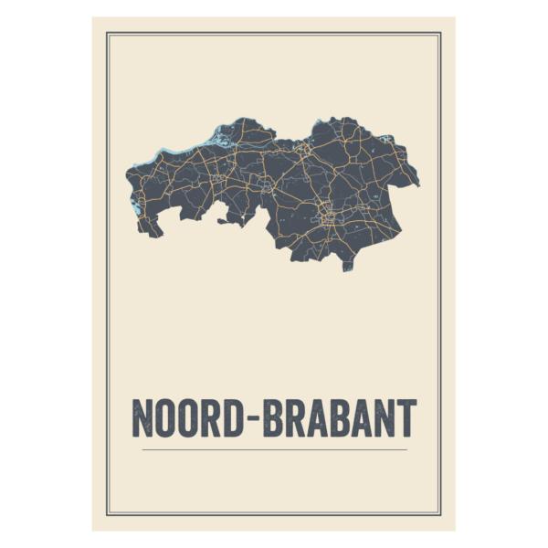 provinciekaart Noord Brabant