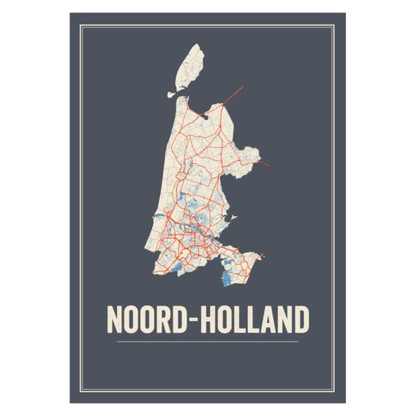 provincie kaarten Noord Holland