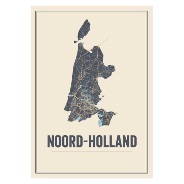 Noord Holland kaarten poster