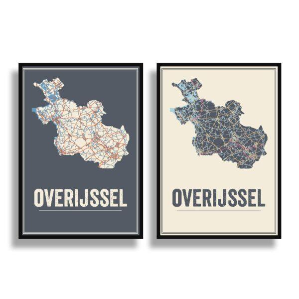overijssel kaarten posters