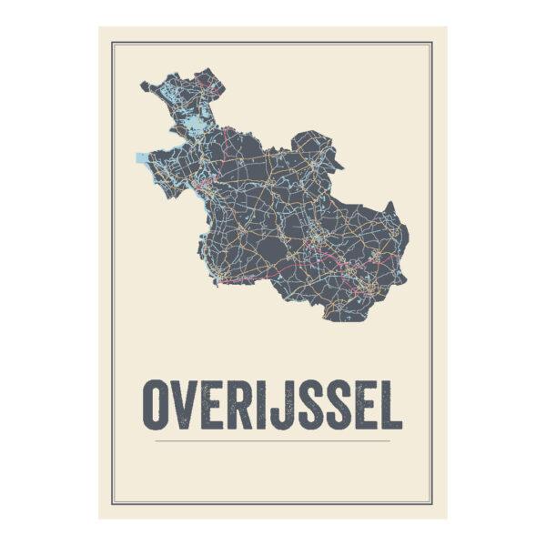 overijssel kaart poster