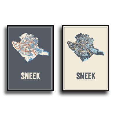 Sneek kaart