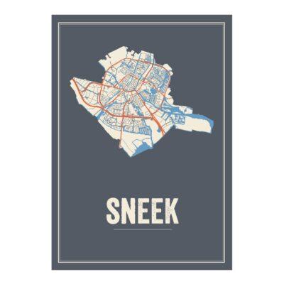 Sneek poster kaart