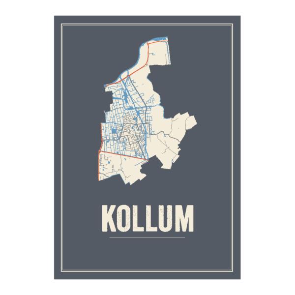 posterkaart van Kollum
