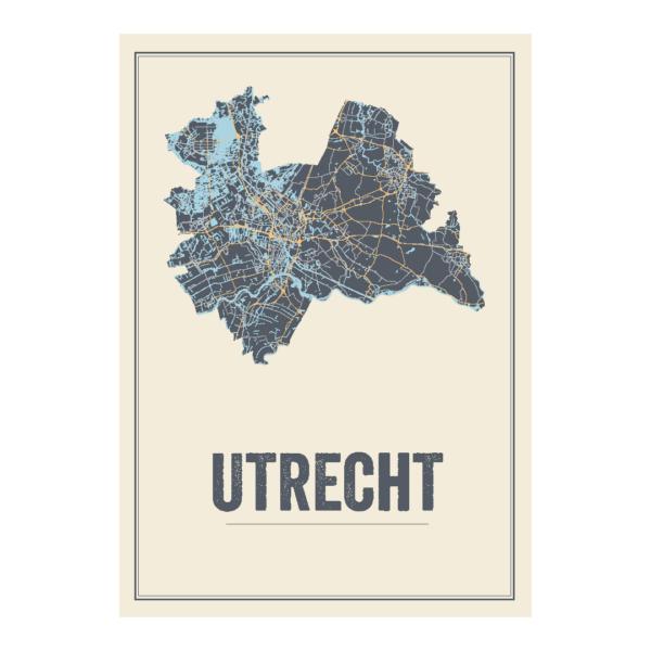 Utrecht kaart poster