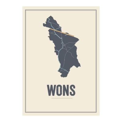 Wons kaart poster