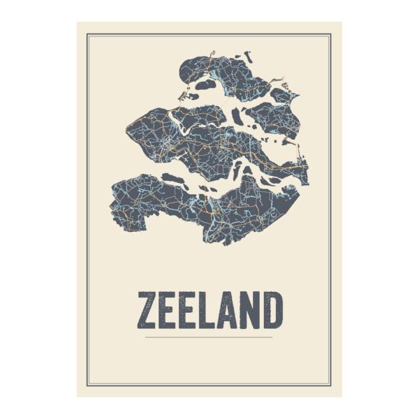 Zeeland kaart poster