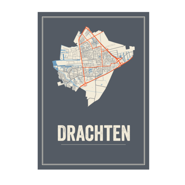poster kaart Drachten
