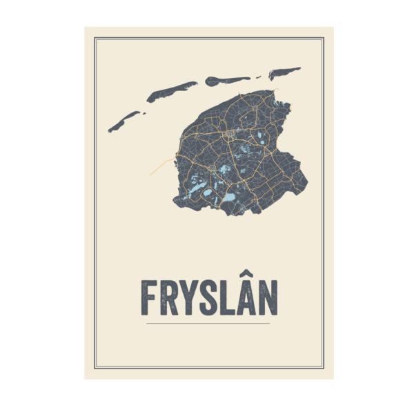 Fryslan kaart